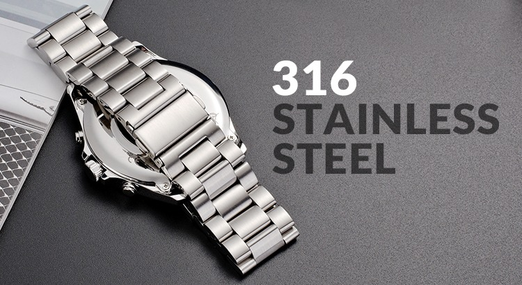 Grade 316 Stainless Steel: The New Shining Armour of HiFuture Smartwatches