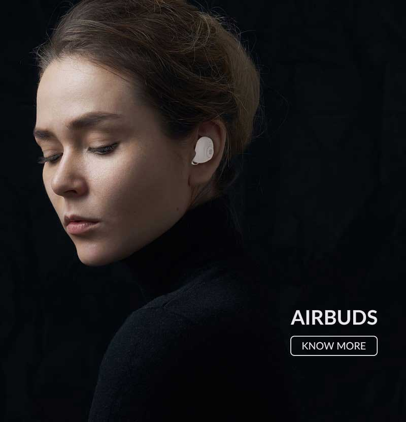 HiFuture AirBuds true wireless technology 5.0 upto 4hrs batter life with dual master and ultra bass technology addon feature with light weight and mini case, soft bass sound
