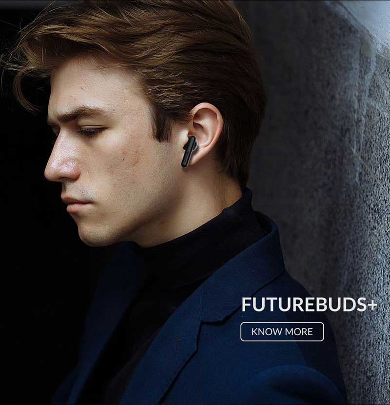 HiFuture FutureBuds Plus True Wireless Earbuds Earphones IPX5 Touch Sensor Headset Bluetooth 5.0 Stereo Speker Headphone with Dual Master for Running Gaming Compatible with Android IOS and Windows