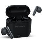 HiFuture FlyBuds2 feature a stylish design that is compact and ergonomic, so the earbuds fit well in your ears as the charging case fits in your pocket.